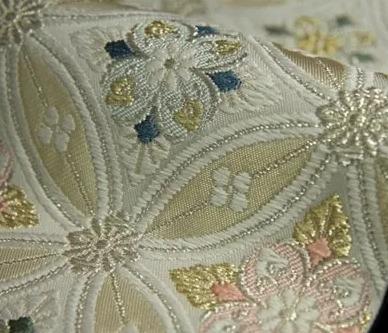 松たか子がアカデミー賞で着ていた着物の帯は「花菱七宝繋ぎ」2