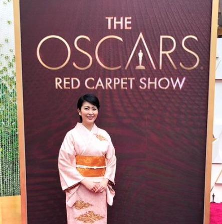 松たか子がアカデミー賞で着ていた着物の帯は「花菱七宝繋ぎ」