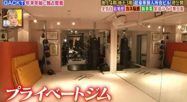 GACKTの日本の自宅:トレーニングルームの画像1