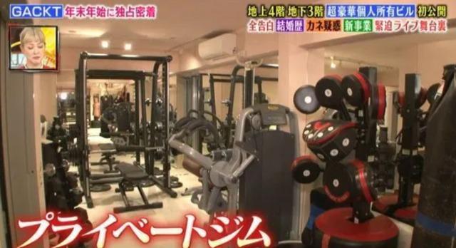 GACKTの日本の自宅:トレーニングルームの画像2