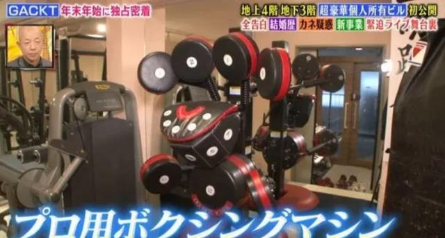 GACKTの日本の自宅:トレーニングルームの画像3