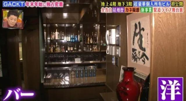 GACKTの日本の自宅:バーの画像2