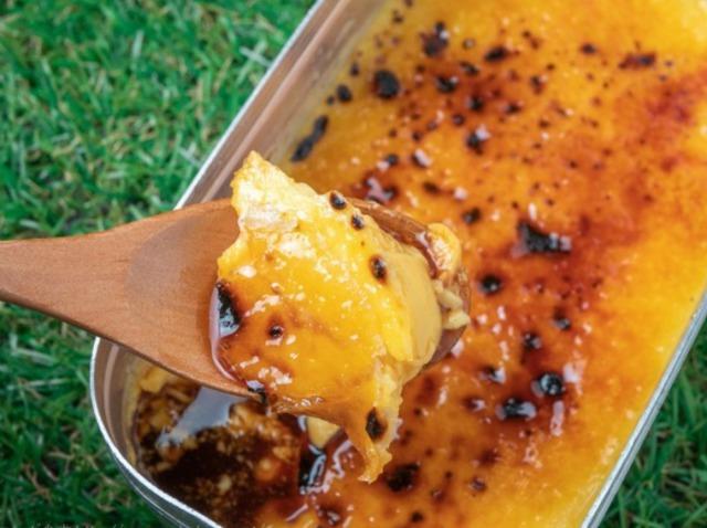 ヒルナンデスキャンプ料理メスティンでプリンの画像