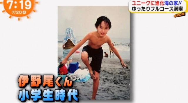 伊野尾慧のおでこはハゲなのか「子供時代」の画像と比較の画像2