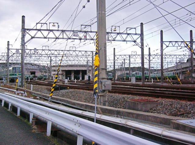 『スパイの妻』ロケ地・撮影場所①:神戸市営地下鉄名谷車輌基地の画像3