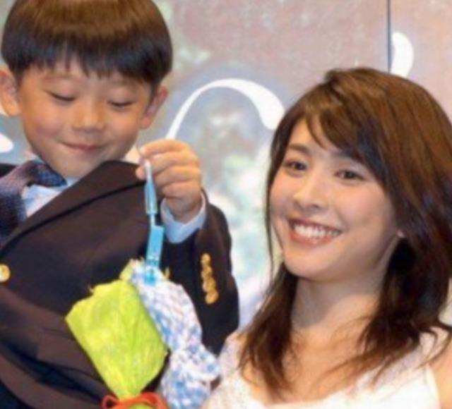竹内結子さんと子供の画像